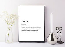 quote life poster picture print home definiton dictionary family