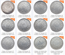 1 Rs All 12 Coins LOT of George V 1911 to 1922