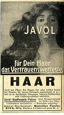 Maximilian Fessler Wien JAVOL-KOPFWASCH-PULVER Historische Annonce 1910