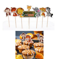 24pcs Animal Farm Cake Inserts Jungle Safari Kids Birthday Party Cupcake Decor