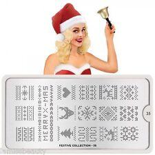 MoYou London FESTIVE 35 Collection Stamping Schablone, Weihnachten Sweater