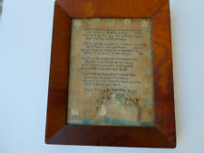 Fine Estate Original 1808 Eliza Kinkead Sampler Original Hand Made Glass & Frame