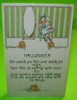 Vintage Halloween Postcard Nash Child Poem Embossed Unused Original Series 30