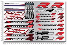 Bmw s1000R Motorrad Aufkleber 36 Stickers set decal klar verbund hp4 s1000 R
