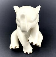 """Lenox Porcelain Baby Lucky Elephant Figurine with Gold Accents Christmas 3"""""""