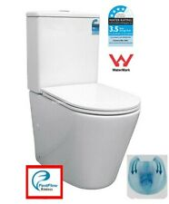 Back To Wall Rimless Toilet Suite SHORT PROJECTION 605mm Ceramic S&P Trap Soft C