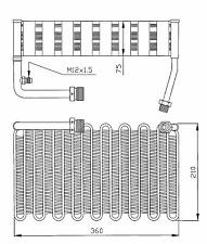 Verdampfer Klimaanlage - NRF 36007