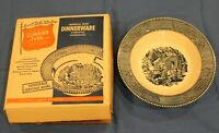 """Currier & Ives Logo on Vegetable Bowl 9 1/4 """" -New in Original Open Box"""