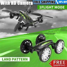 FY602 Flying Car With HD Camera 2.4G RC Quadcopter Drone 6-Axis 4CH Helicopter H