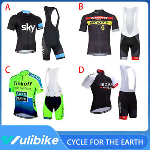 2020 Men's Racing Clothes Cycling Jersey Bib Shorts Set Outdoor Bike Sports Kits