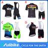 2020 Men's Racing Clothes Cycling Jersey Bib Shorts Set Outdoor Bike Sports Kits