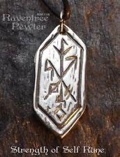 Strength of Self Rune - Pewter Pendant - Celtic, Norse Nordic Jewelry, Wisdom