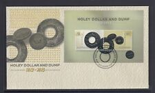 AUSTRALIA 2013 HOLEY Dollar &  DUMP BICentenary MINISHEET on FDC - Coins.