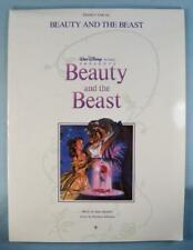 Beauty & The Beast Walt Disney Sheet Music Anthology Vintage 1991 Piano Vocal O