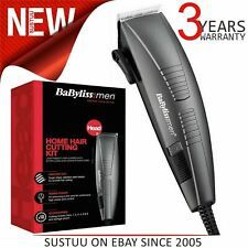 BaByliss Corded Home Hair Cutting Clipper Kit For Mens¦6 Attachements¦7452BU¦NEW