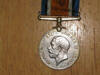 WW1 silver British War Medal Canadian named to Quigley