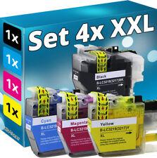 Set 4x XL TINTE PATRONEN für BROTHER MFC J5330DW J5335DW J5730DW J5930DW J6530DW