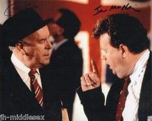 George Cole & Ian McNeice Autograph - Minder - 10x8 Photo - Hand Signed - AFTAL
