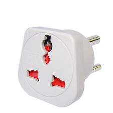 MX 2pcs UK/US/EU Universal Travel Adapter to Indian 3 Pin Power Plug / Converter
