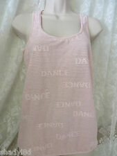SO DANCA Dance Yoga Mesh Top Pink Large NWT