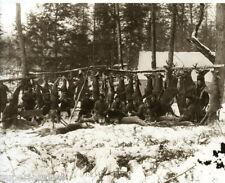 Vintage Deer Hunting 30 Hanging on Whitetail Deer Buck Pole Escanaba MI AMAZING