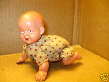Vintage Celluloid Baby Crawls Wind-Up Japan Toy 1920s