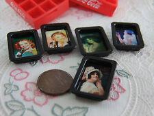 5 Pcs.of Dollhouse Miniature  Coke tray, Vintage design