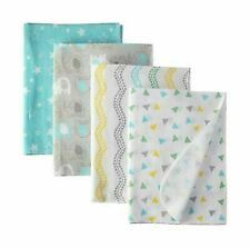 RECEIVING X4 - LUVABLE UNISEX - ELEPHANT- BOYS GIRLS BLANKETS COTTON 4 PACK BABY