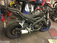 Yamaha MT125 2016 abs FRONT rearsets  footrest left and right  only 4052 miles