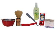 Mens Wet Shaving Set Kit Gift Arko Soap Selin Cologne Jaguar Brush 6 Piece Set
