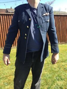 RAF Pilots Tunic uniform jacket , great for reenactors or Goodwood Vintage named