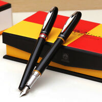 Picasso 907 Montmartre Metal Black Fountain Pen with Yellow/Red Ring Optional