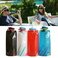 Flexible Foldable Bottles Collapsible Hiking Fashion Water N Hot Bags Reusa O7A2