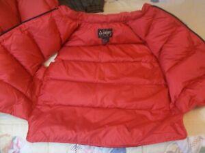 RARE Vintage USA Gerry SuperVest Goose Down Vest Waterproof Jacket Red Long Tail