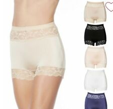"""Rhonda Shear Betty Pinup Panty w/Lace 5 PK """"Dusty"""" Colors Size 1X NEW WITH TAGS"""