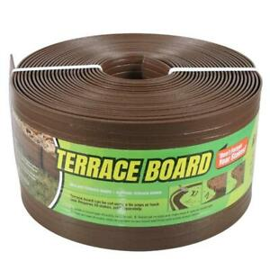 Master Mark Terrace Board Lawn Edging 5 in. x 40 ft. Attachable Plastic Brown