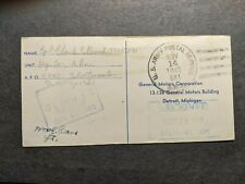 APO 881 BOMBAY, INDIA 1943 Censored WWII Army Cover CHESTERFIELD Cigarettes