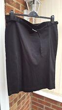 New Look Inspire Black Smart Straight Skirt, Calf Length, Size 20, VGC