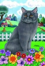 Spring House Flag - Grey Maine Coon Cat 76003
