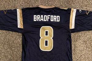 Sam Bradford #8 St. Louis Rams Reebok Mens Football Jersey Medium Blue Gold NWT