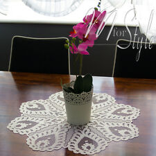 "Placemat Napkin Cream Lace Round  Table Mat 19.7"" (50cm)  Diameter"