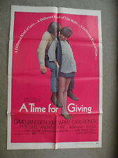 A Time for Giving David Jensen Kim Darby 1970 27X41 originial movie poster 70/42
