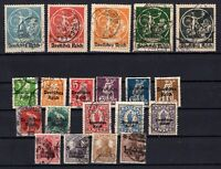 P135655/ GERMANY – YEARS 1916 - 1921 USED SEMI MODERN LOT – CV 130 $