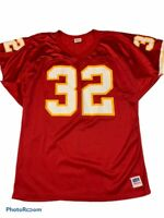 Kansas City Chiefs Marcus Allen 32 Wilson Mens Jersey Red Perforated V-Neck L