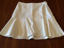 COUNTRY ROAD  BNWT Vanilla Textured Cotton Poly Trumpet Kick Hem Skirt 8