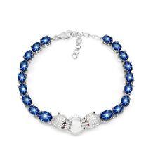 925 Sterling Silber Armband, Vergoldet, Natural Sternsaphir Cabochon, Tiger,Neu