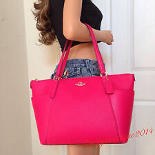 NWT COACH GOLD PINK PEBBLE LEATHER TOTE SHOULDER BAG HANDBAG PURSE