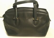 Rare Vtg Italy COACH Madison Sutton PURSE Blk Leather Satchel Speedy Drs Bag