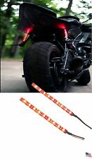 Motorcycle LED Red Brake Light Universal Tail Bright Hue Glow Stop Marker 2 Wire