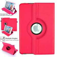 """Apple iPad 9.7"""" 360 Rotating Leather Smart Stand Case Cover 2017 5th Generation"""